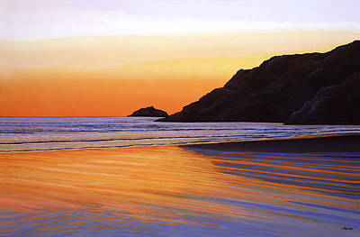 Painting - Earth Sunrise Sea by Paul Meijering