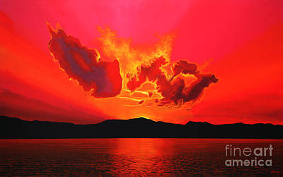 Shadows Painting - Earth Sunset by Paul Meijering