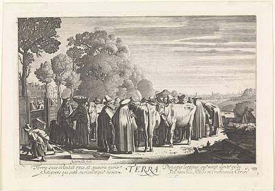 Terra Drawing - Earth Terra, Jan Van De Velde II by Artokoloro