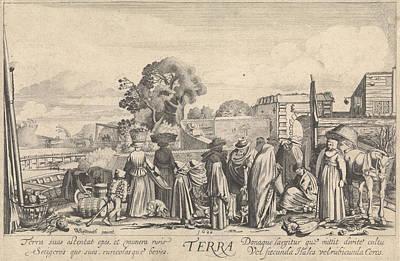 Terra Drawing - Earth Terra, Jan Van De Velde II by Jan Van De Velde (ii)