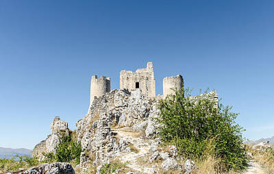 Rocks Photograph - Earth That Was - Rocca Calascio In Italy by Andrea Mazzocchetti