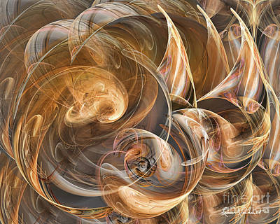 Digital Art - Earth Tone Luminance by Leona Arsenault