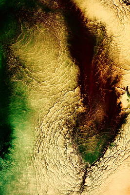Earth Tones Abstract Art Depths Of The Grand Canyon  Art Print