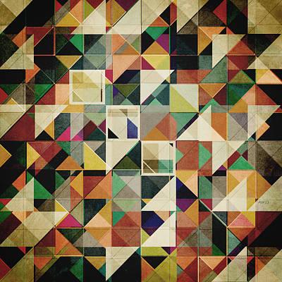 Geometric Digital Art - Earth Tones Abstract by Phil Perkins
