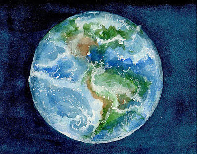 Wall Art - Painting - Earth View by Elle Smith Fagan