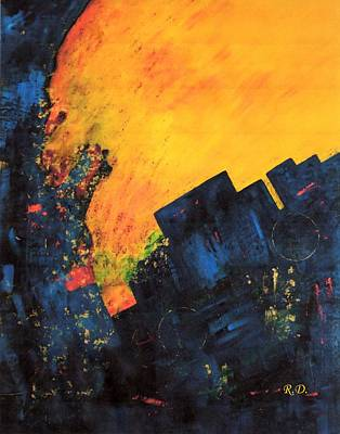 Abstrac Painting - Earth Wind And Fire..... by Renate Dartois