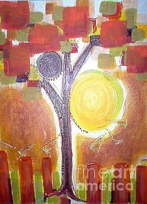 Painting - Earthen Ochre by L Cecka