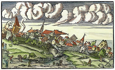 Earthquake Painting - Earthquake, 1550 by Granger