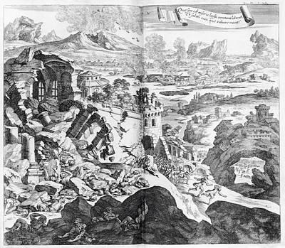 Earthquake And Volcano Art Print