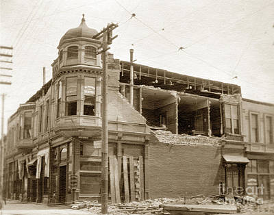 Photograph - Earthquake Damage Alameda 1906 by California Views Mr Pat Hathaway Archives