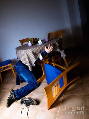 Drill Press Photograph - Earthquake Hiding by Sinisa Botas
