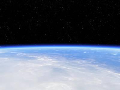 Earth's Atmosphere From Orbit Art Print by Detlev Van Ravenswaay