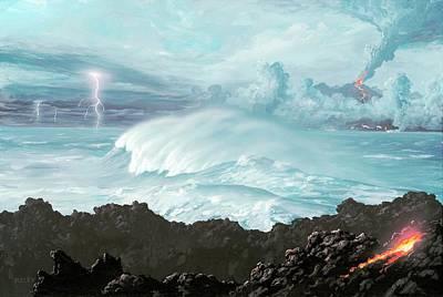 Earth's First Oceans Art Print by Richard Bizley