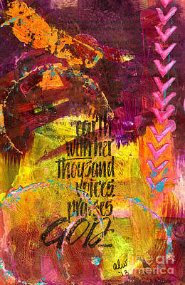 Mixed Media - Earth's Silent Voices by Angela L Walker