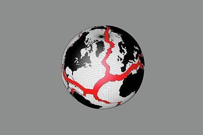 Earth's Tectonic Plates Art Print