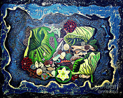 Painting - Earths Treasures by Genevieve Esson