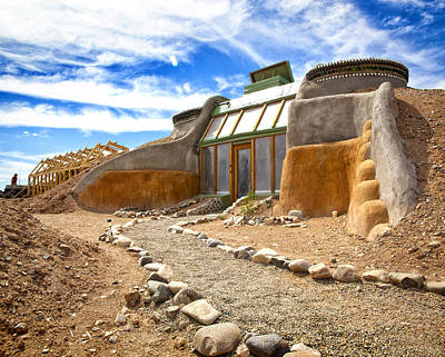 Earthship Taos  Art Print by Shanna Gillette