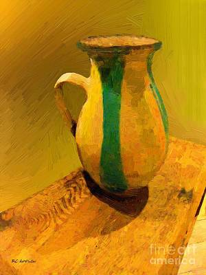 Terracotta Room Painting - Earthtones by RC DeWinter
