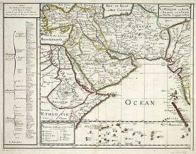 Cartography Photograph - East Africa And The Middle East by British Library