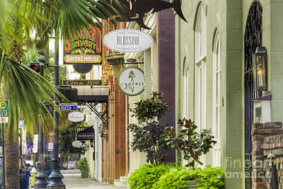 East Bay Street Charleston Sc Print by Dustin K Ryan