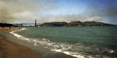 Photograph - East Beach And Golden Gate by Michelle Calkins