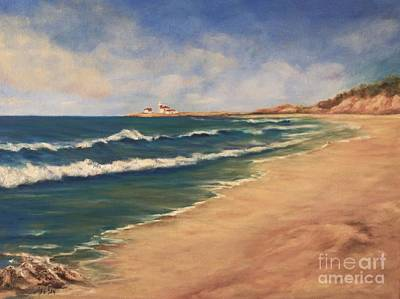 Painting - East Beach Watch Hill  by Anne Barberi