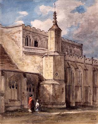 Northside Drawing - East Bergholt Church, Northside by John Constable