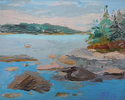 Painting - East Blue Hill Bay by Francine Frank