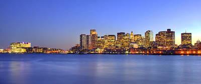 Sunset Photograph - East Boston Harbor Sunset by Joann Vitali
