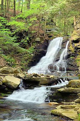 Photograph - East Branch Falls Lower Tier #2 by Joel E Blyler