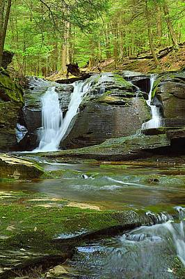 Photograph - East Branch Falls Upper Tier #1 by Joel E Blyler