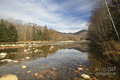 White River Scene Photograph - East Branch Of The Pemigewasset River - Lincoln New Hampshire Autumn by Erin Paul Donovan