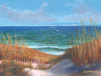 East Coast Seascape By David Zamudio Art Print by David Zamudio