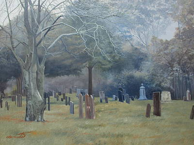 Painting - East End Cemetery Amagansett by Barbara Barber