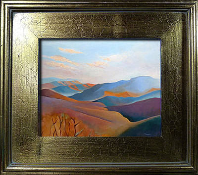 Blue Ridge Painting - East Fall Blue Ridge No. 3 Oil Painting by Catherine Twomey
