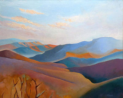 Blue Ridge Painting - East Fall Blue Ridge No.3 by Catherine Twomey