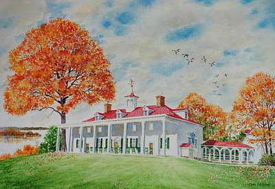 Mount Vernon Painting - East Front Mt. Vernon by Tom Harris