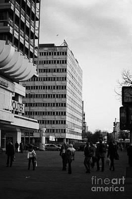 Karl Marx Photograph - east german communist construction buildings on Karl-Marx-Allee Berlin Germany by Joe Fox
