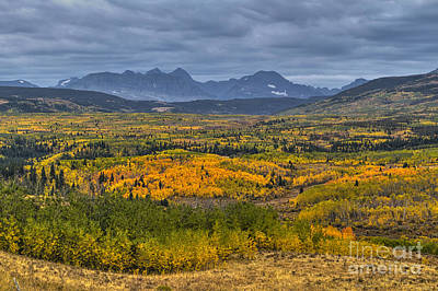 East Glacier Autumn Colors Art Print by Mark Kiver