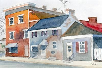 East Green And Main Original by Marsha Elliott