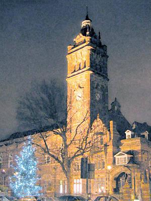 Digital Art - East Ham Town Hall by Helene U Taylor