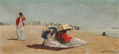 East Hampton Beach On Long Island 1874 Art Print by Philip Ralley