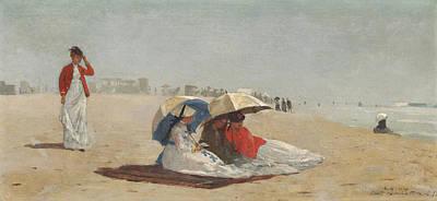 East Hampton Painting - East Hampton Beach by Celestial Images