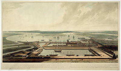 East India Photograph - East India Docks by British Library