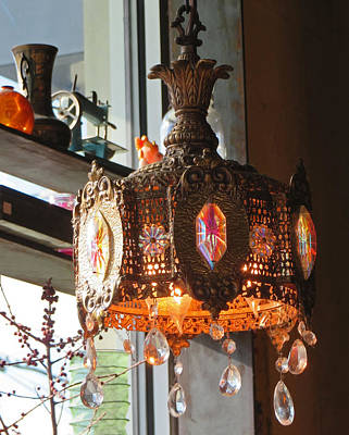 Photograph - East Indian Hanging Lamp by Elizabeth Rose