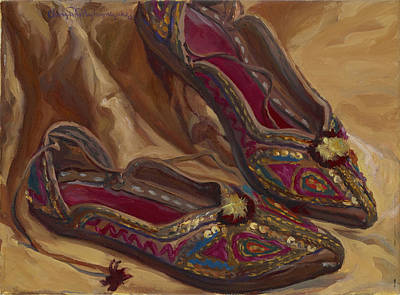 East Indian Shoes Art Print