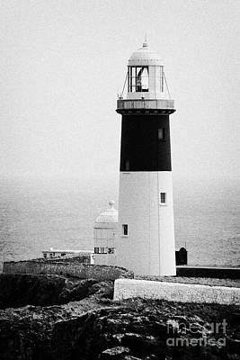 East Light Lighthouse Altacarry Altacorry Head Rathlin Island  Art Print by Joe Fox