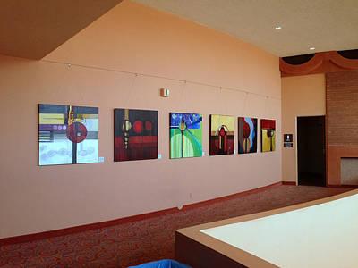 Photograph - East Mezzanine Asu Gammage Installation by Marlene Burns