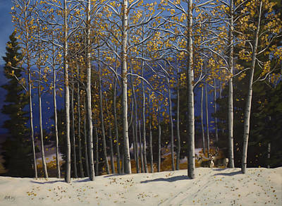 Painting - East Mountain Fall by Jack Atkins