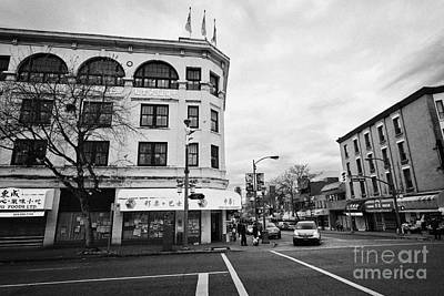east pender street and gore avenue chinatown Vancouver BC Canada Art Print by Joe Fox